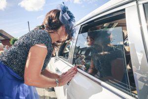 wedding guest car reflection