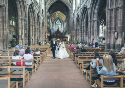 Wedding Bride and Groom cathedral