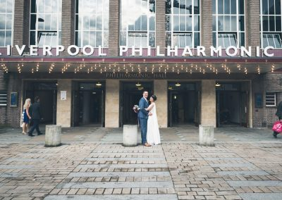 Bride and Groom Liverpool Philharmonic