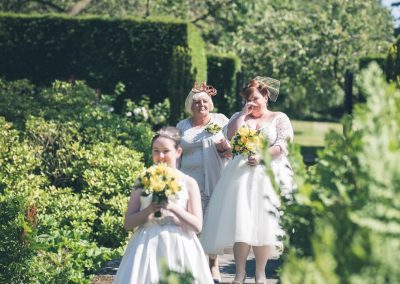 Ness gardens wedding Mother of the bride and bridesmaid