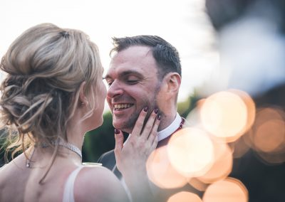 Rachel and Jack wedding Liverpool kissing bride