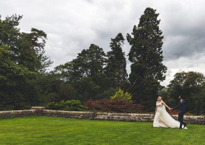 Bride and Groom, Plas Dinam Wedding, Willo Photography