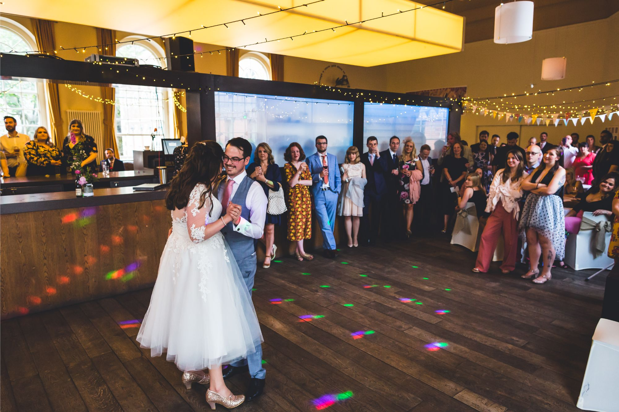 Bride & Groom first dance in Upstairs Bistro at Bluecoat Liverpool