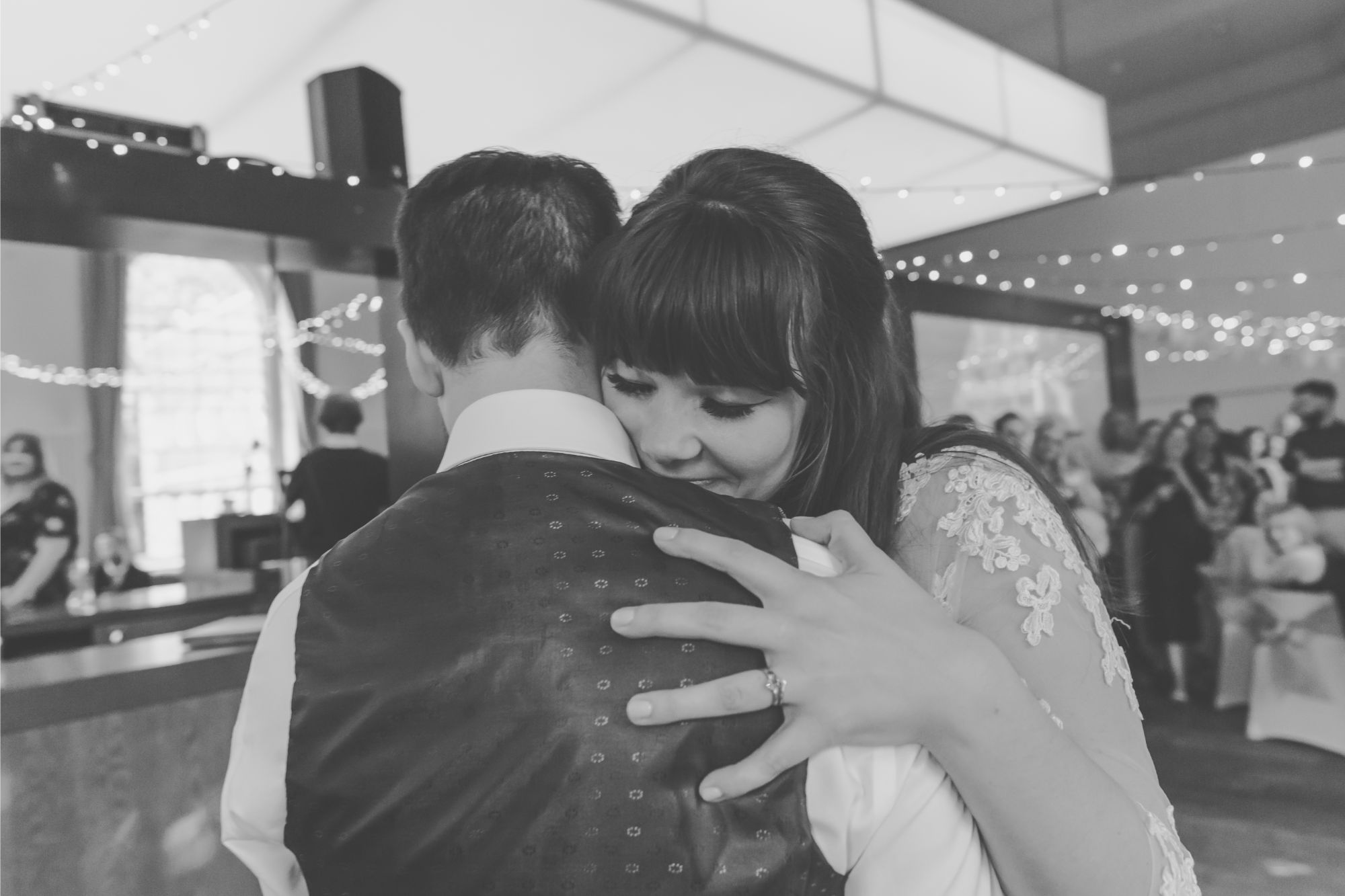 Bride and Groom first dance in Upstairs Bistro at Bluecoat Liverpool Wedding