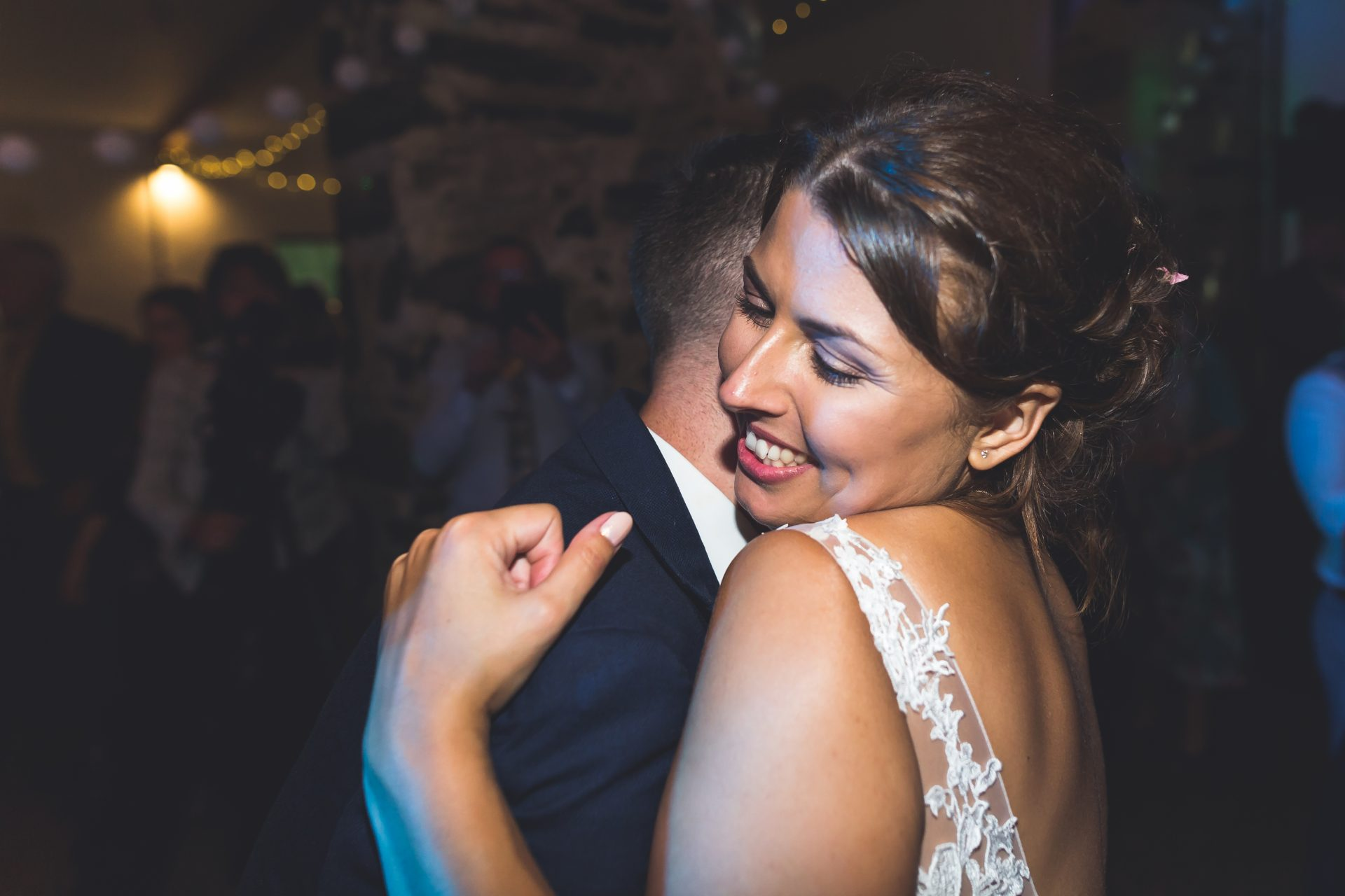 Bride and Groom first dance at their Llyn Gwynant wedding